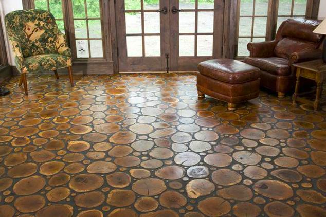 Logs & Twigs Flooring by Birger Juell Ltd.