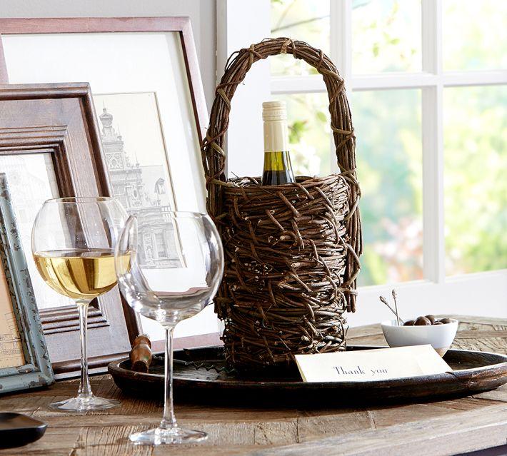 Grapevine Wine Bottle Basket, Pottery Barn