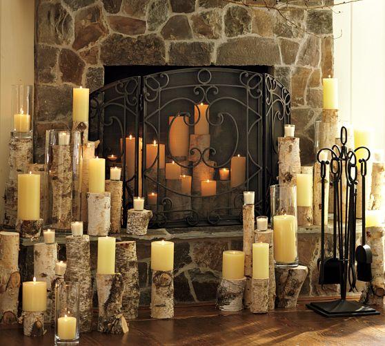 Aspen Fireplace Triple Screen, Pottery Barn