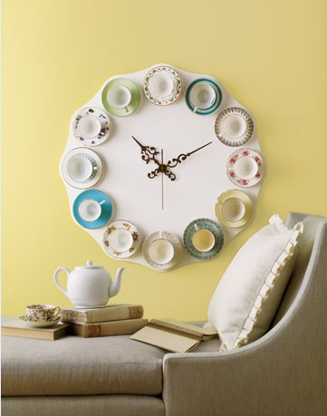 Tea Cup Clock by Sweet Paul