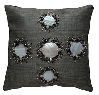 Kabibe Seashell & Beads Decorated Pillow Cover, Kouboo