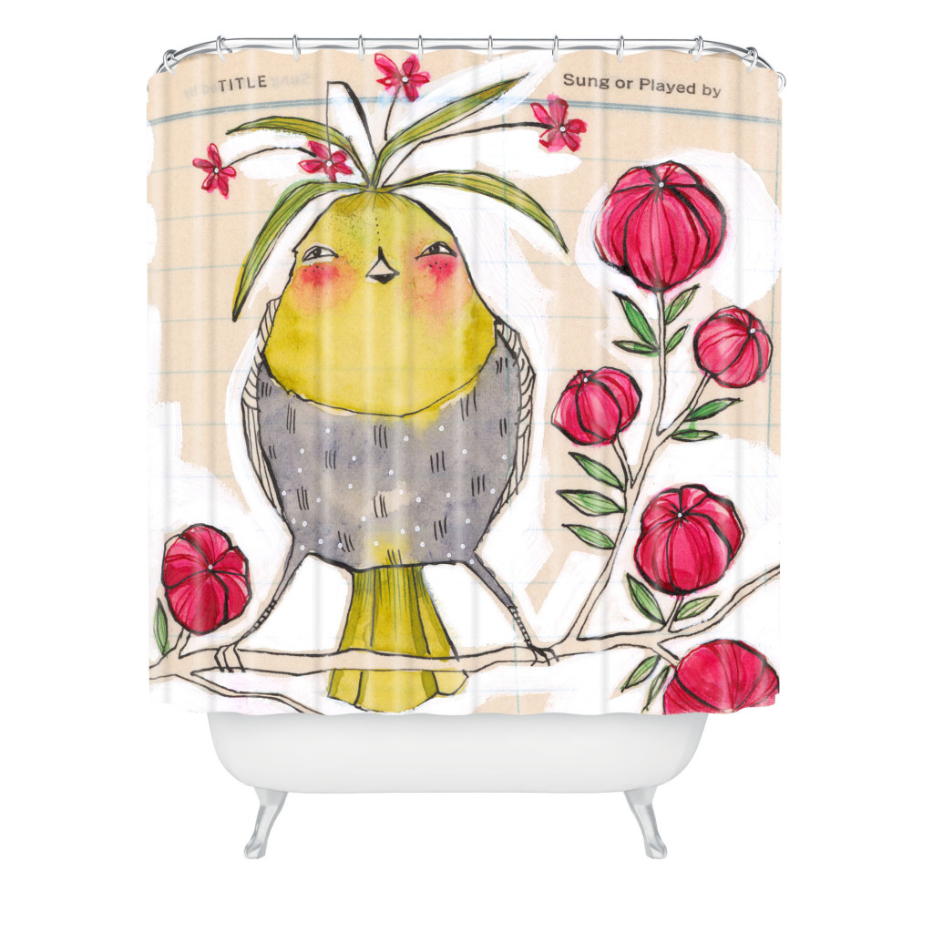 Cori Dantini Woven Polyester Sweetness and Light Shower Curtain, DENY Designs