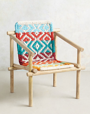 Diamond Weave Chair, Anthropologie