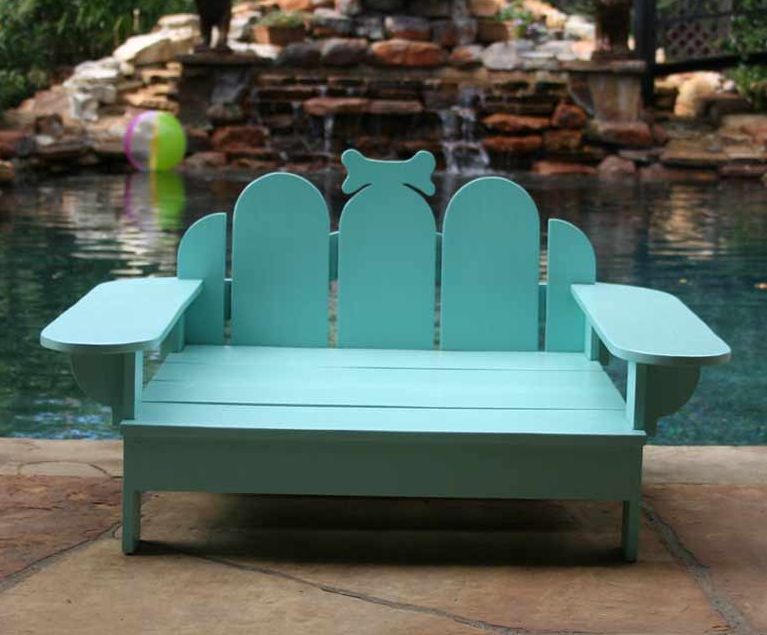 Adirondack Outdoor Bridgeport Tiffany Blue Pet Bed, Sweeten Your World