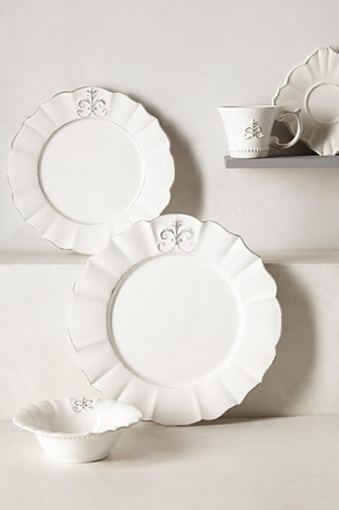Fleur de Lys Dinner Plate, Anthropologie