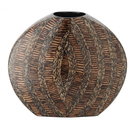Sphere Vase with Coconut Twigs, Kouboo