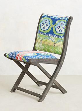 Suzani Terai Folding Chair, Anthropologie