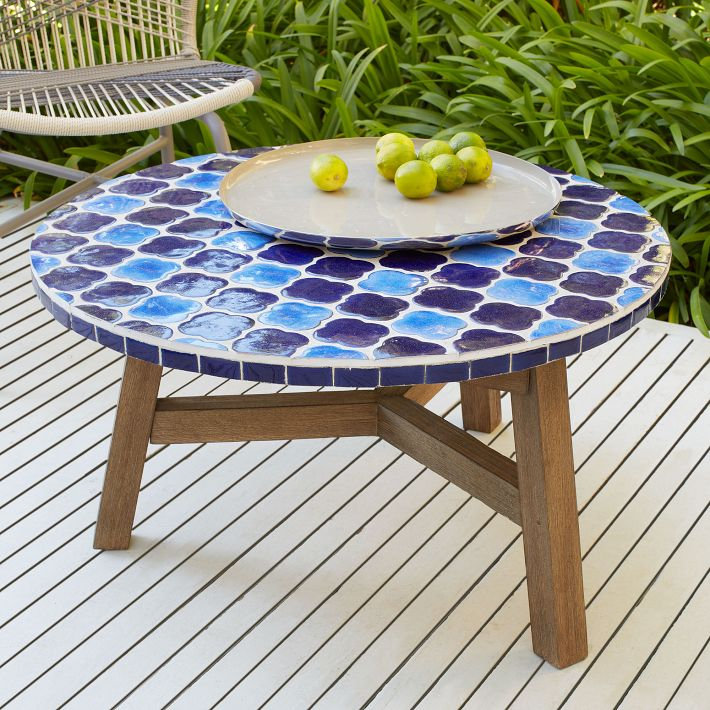 Mosaic Tiled Coffee Table, West Elm