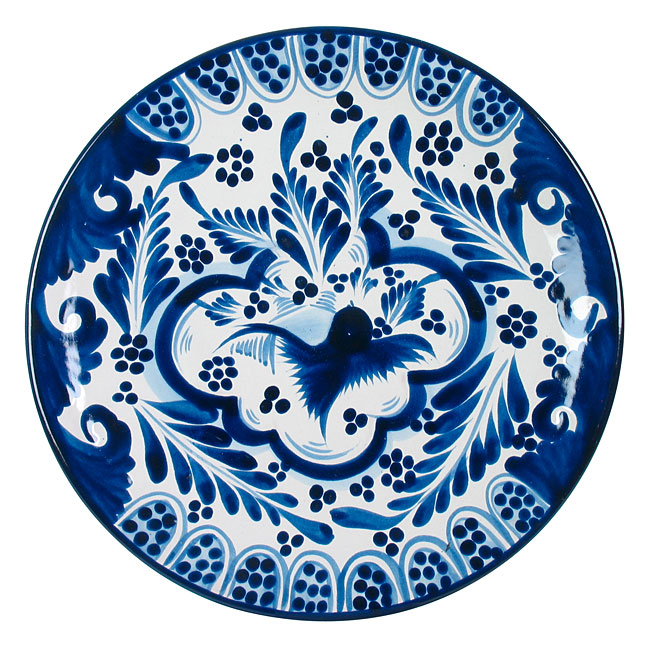 Blue & White Talavera Salad Plates, Direct From Mexico