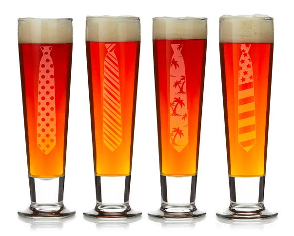 Tie Beer Glasses, Uncommon Goods