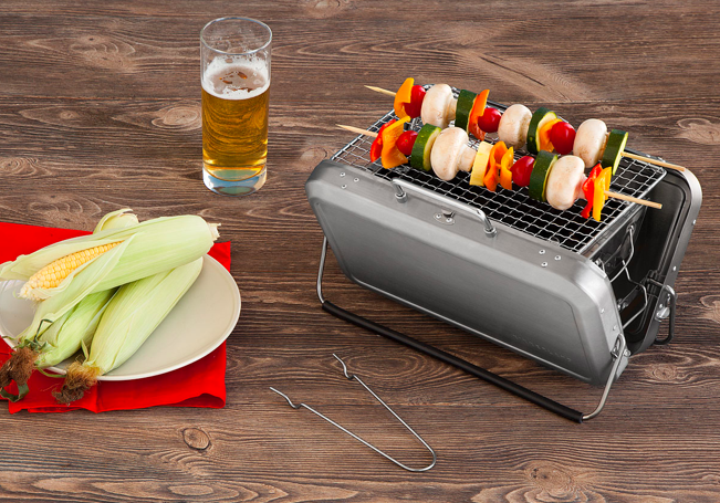 Portable Briefcase BBQ Grill, Uncommon Goods