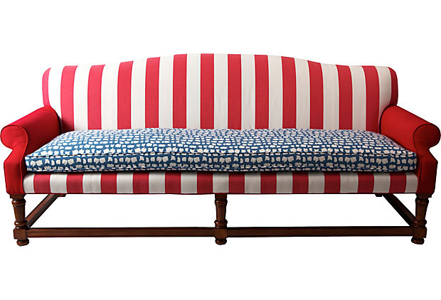 Admirable Red White And Blue Sofa Madcap Cottage Susan Hayward Interiors Interior Design Ideas Oxytryabchikinfo
