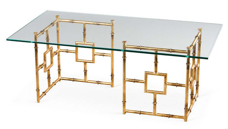 Bamboo Float Glass Coffee Table, One Kings Lane