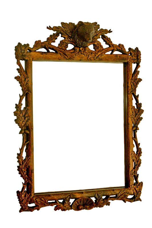 Black Forest Bear Mirror, Vintage Winter