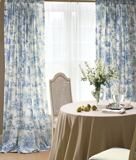 Lenoxdale Toile Rod Pocket Curtains, Country Curtains