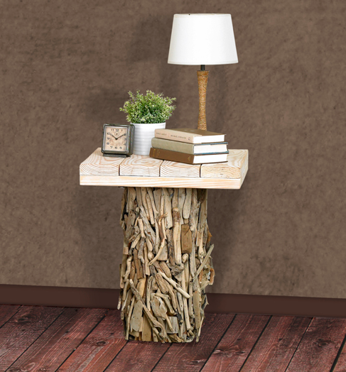 Driftwood Bedside Table, Cottage & Bungalow
