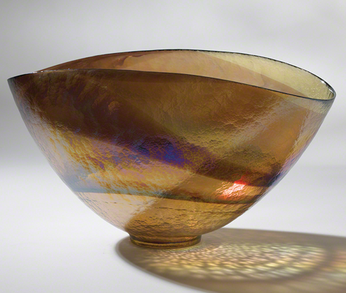 Gold Iridescent Oval Bowl, Global Views