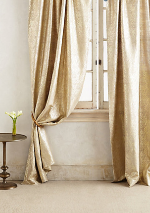 Gilded Waves Curtain, Anthropologie