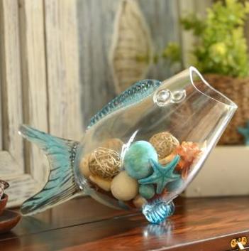 Glass Fish Blue Bowl, Kirkland's