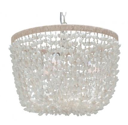 Inverted Pendant Lamp in Bubble Seashell, Kouboo