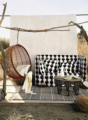Rattan Hanging Chair, Anthropologie