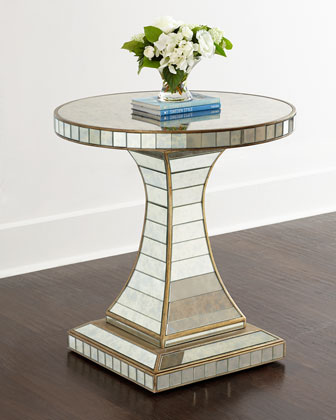 Janiece Mirrored Side Table, Horchow