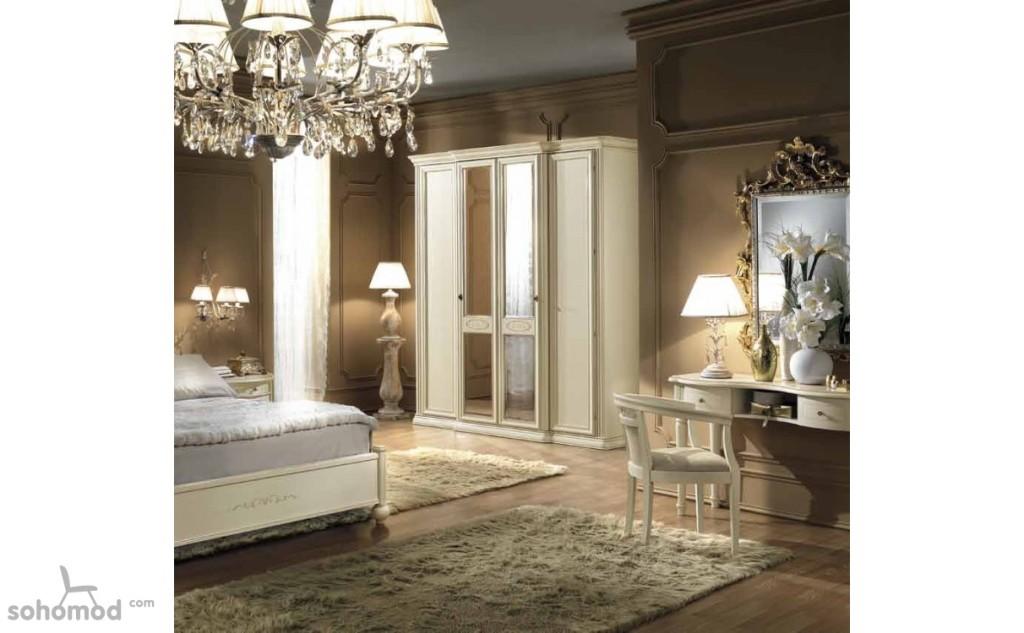 Classic Siena Mirror Door Wardrobe by Camelgroup, Italy (Available on Sohomod