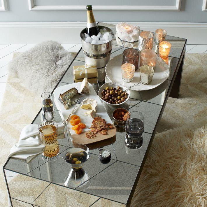 Herringbone Mirror Coffee Table, West Elm