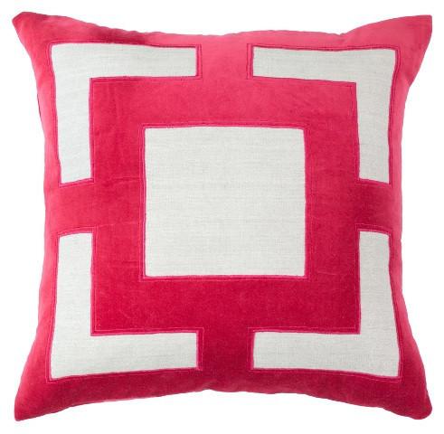 Panel Hot Pink Pillow, Lillian August