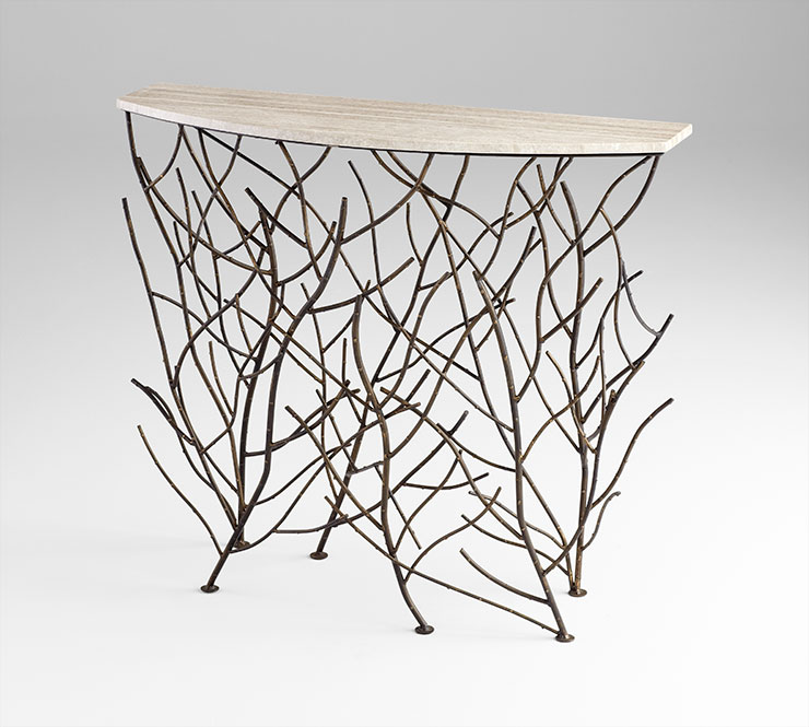 Woodland Console Table, Cyan Design