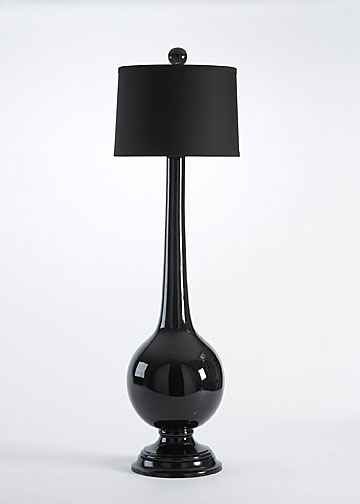 Black Ceramic Lamp, Chelsea House