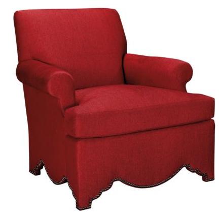 Allen Chair with Scalloped Base, Alexa Hampton via Hickory Chair