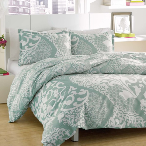 City Scene Medley Lagoon Reversible Cotton 3-piece Duvet Cover Set, Overstock.com