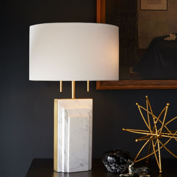 Deco Marble Table Lamp, West Elm