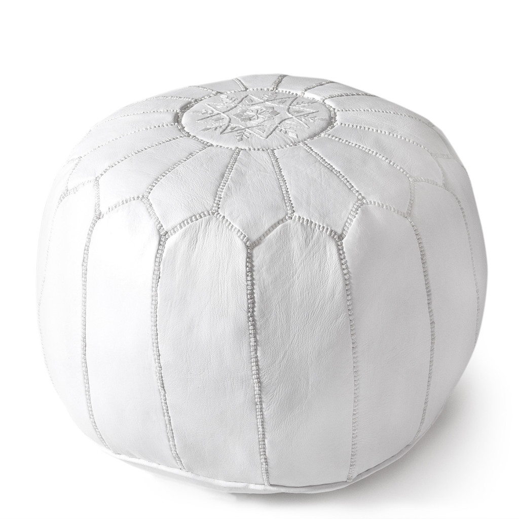 Leather Moroccan Pouf, Jonathan Adler