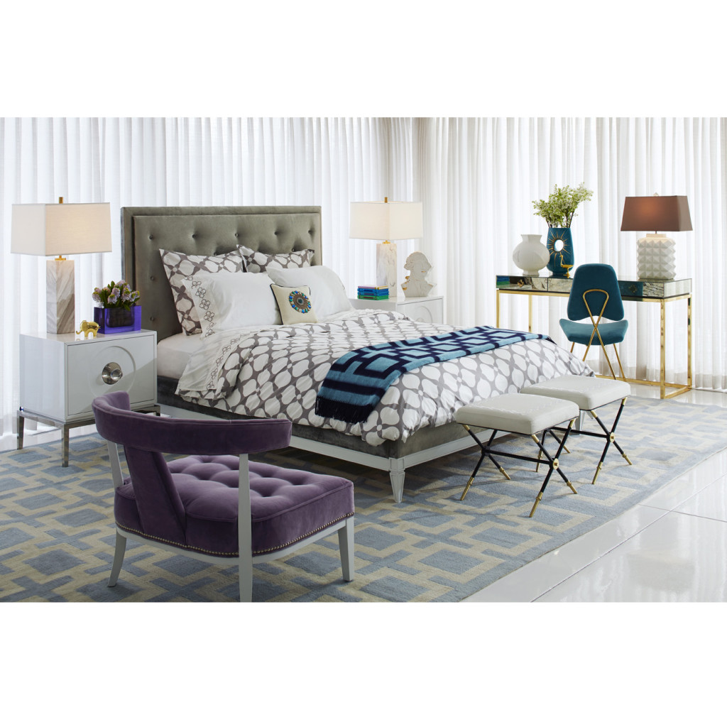 Grey Hollywood Duvet Cover, Jonathan Adler