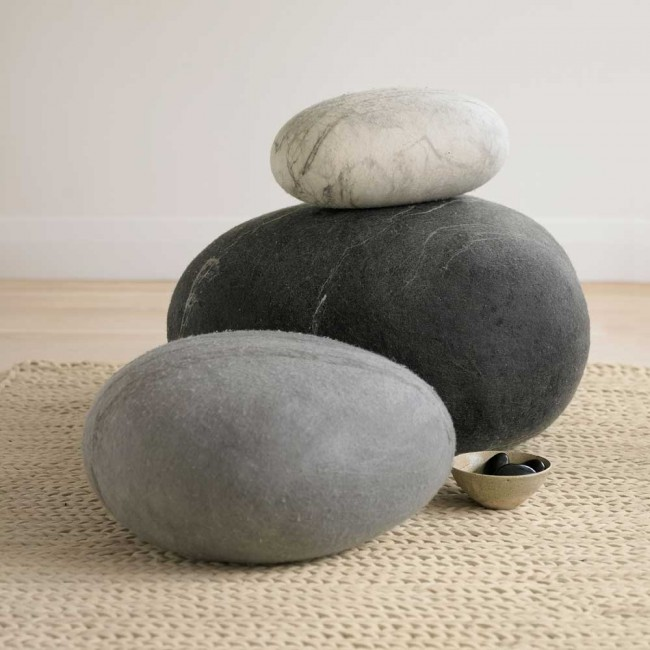 Felted Wool Stones, VivaTerra