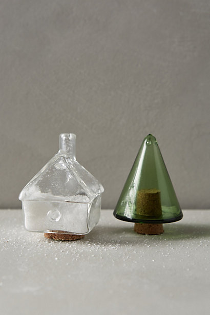 Holiday Village Salt & Pepper Shakers, Anthropologie