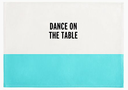 Food For Thought Placemat, Kate Spade