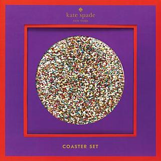 Glitter Coasters, Kate Spade