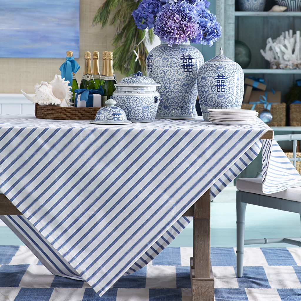 Candy Cane Tablecloth Overlay, Wisteria
