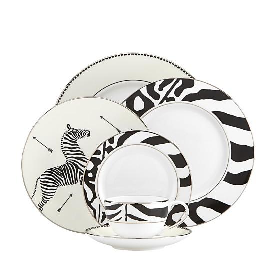 Scalamandre by Lenox Zebra Platinum Dinnerware, Available at Bloomingdale's