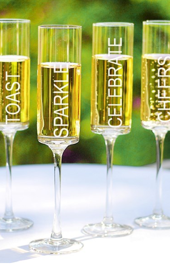'Celebrate!' Contemporary Champagne Flutes, Cathy's Concepts