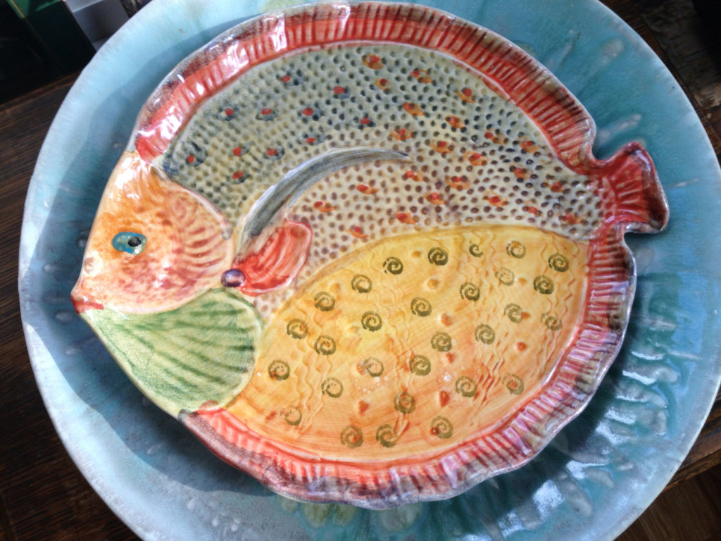 Vintage Ceramic Fish Platter Made In Italy Extraordinary Serving Piece, Etsy
