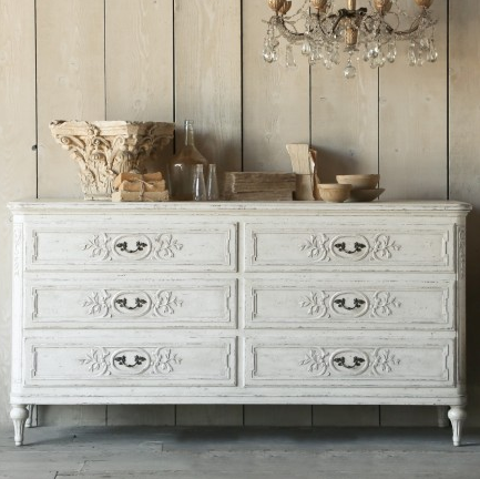 Eloquence Bronte Weathered White Dresser, The Bella Cottage