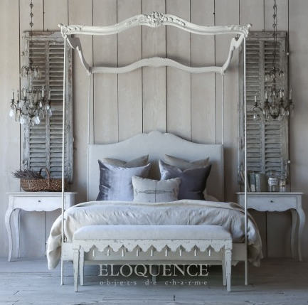 Eloquence Aria Queen Canopy Bed, The Bella Cottage