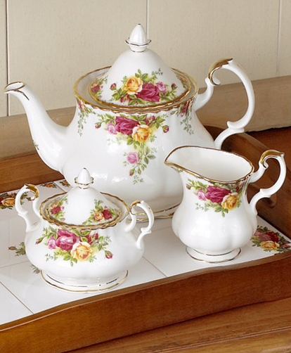 "Royal Albert ""Old Country Roses"" 3-Piece Tea Set, Macy's"