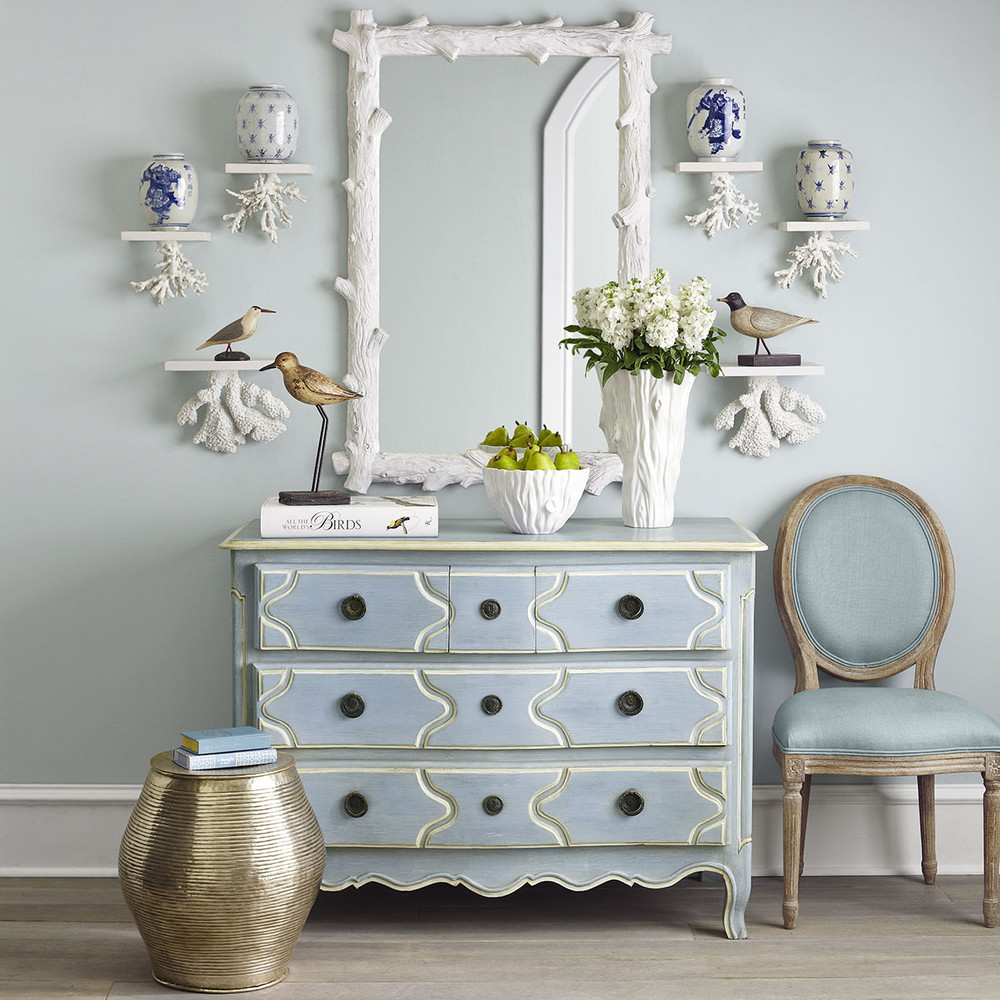 Louis XV Five Drawer Chest, Wisteria