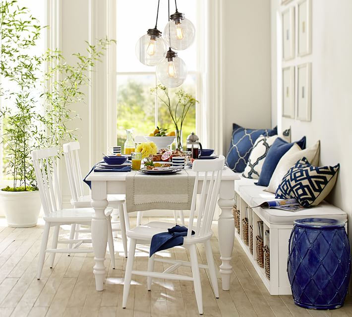 Net Ceramic Accent Table, Pottery Barn