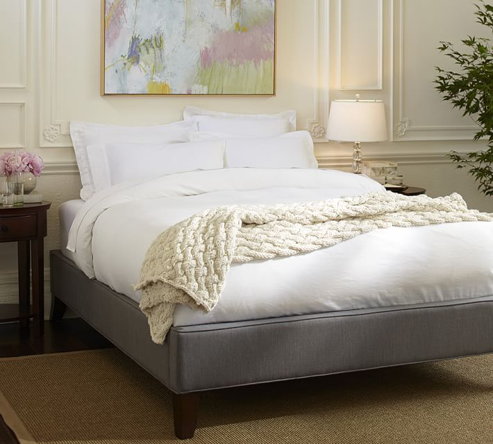 Fillmore Upholstered Platform Bed Frame, Pottery Barn